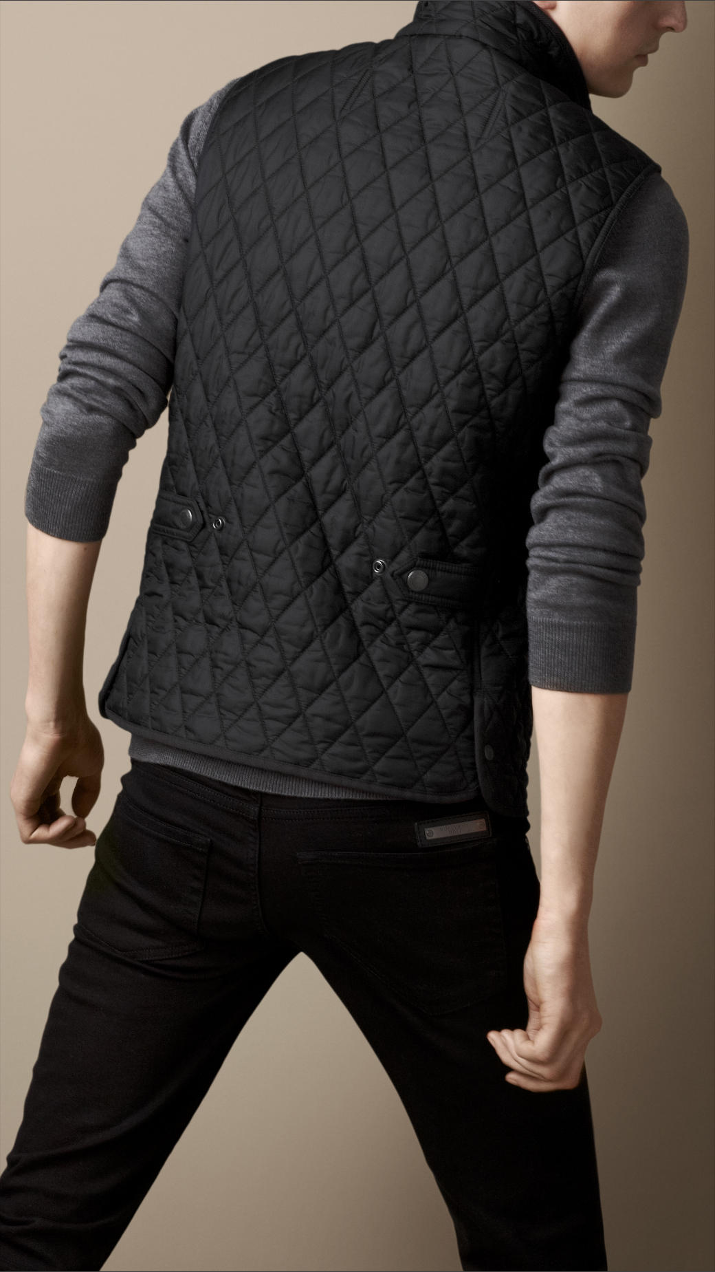 Lyst Burberry Diamond Quilted Gilet In Black For Men