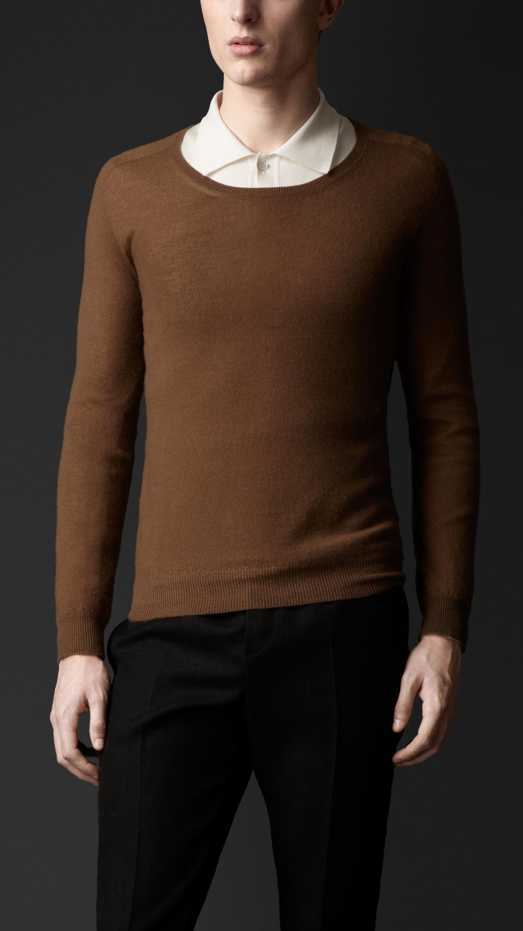 Burberry Lightweight Cashmere Sweater in Brown for Men | Lyst