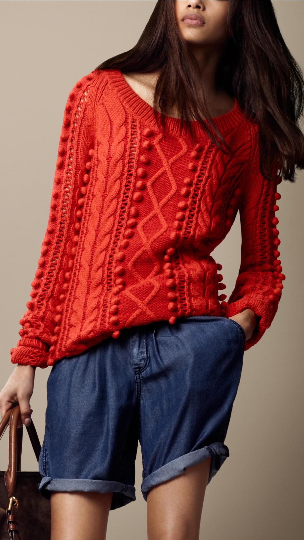 Вязаные модные свитера для девушек фото