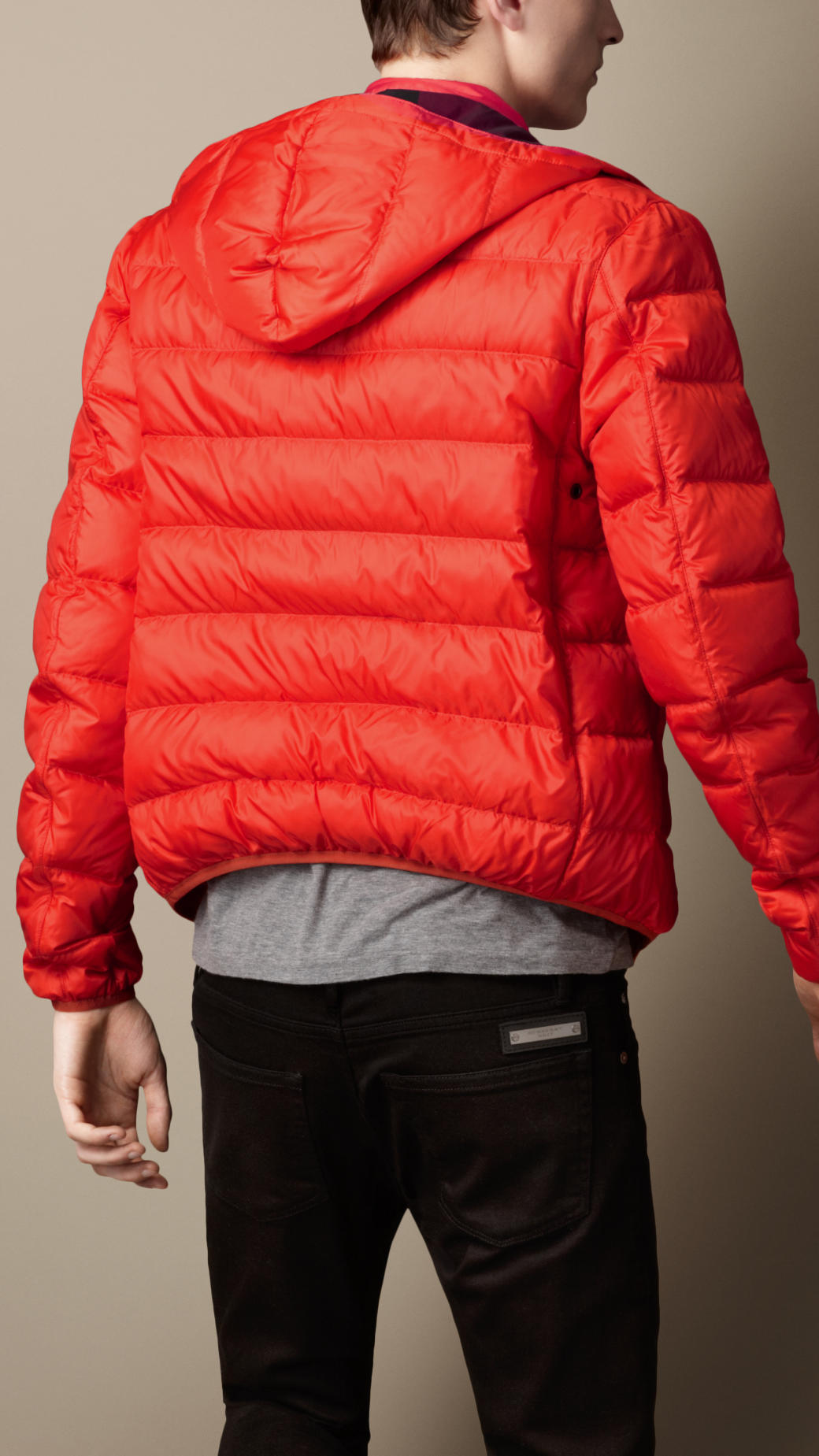 Burberry Downfilled Puffer Jacket In Orange For Men Lyst