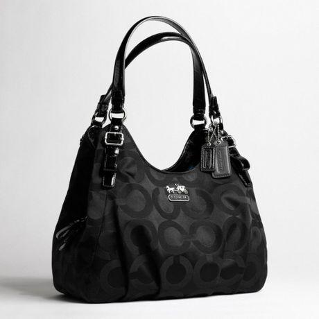 Coach New Op Art Signature Shoulder Bag Silver 90
