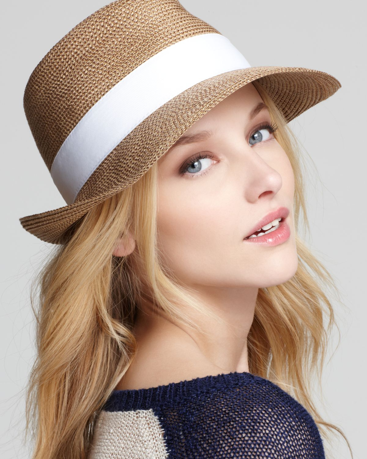 af423a7387c Lyst - Eric Javits Squishee™ Classic Fedora in Natural