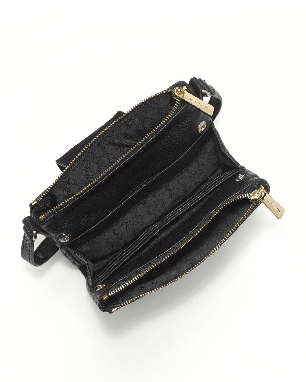 michael michael kors fulton large crossbody bag in black lyst. Black Bedroom Furniture Sets. Home Design Ideas