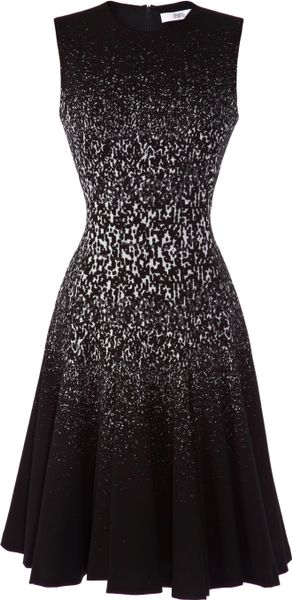 Prabal Gurung Sleeveless Jersey Fit And Flare Dress In