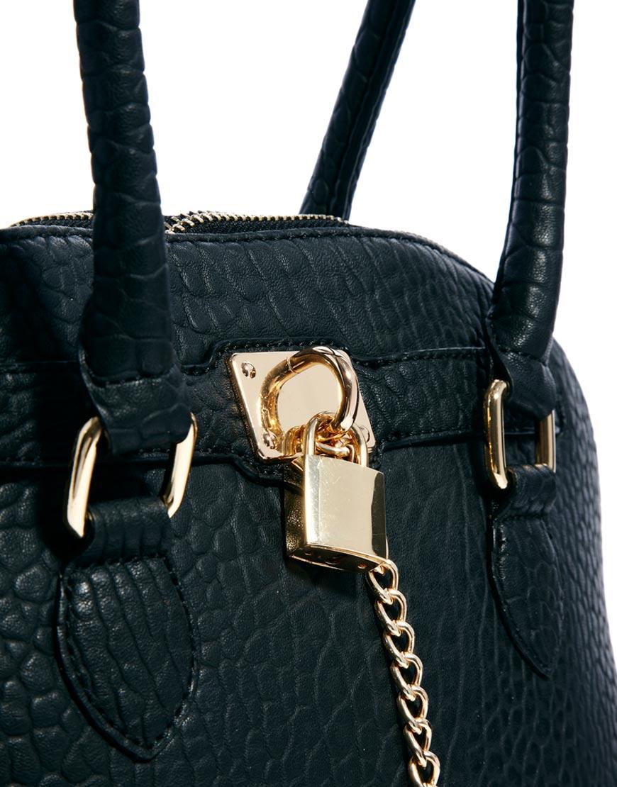 78c35771b1d Lyst - ALDO Frattapolesine Padlock Bag in Black