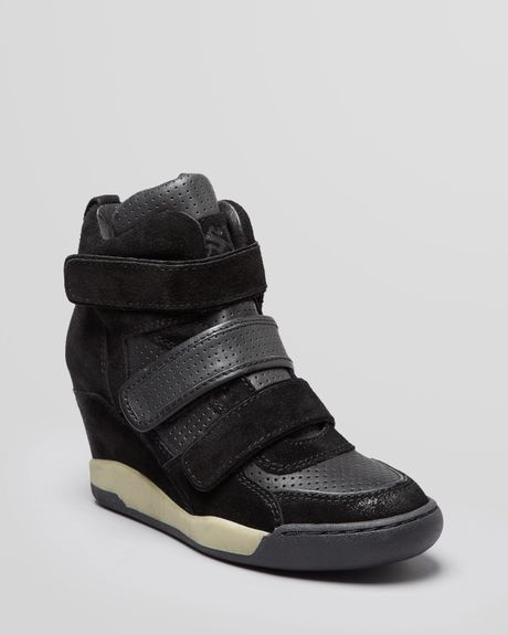ash high top wedge sneakers alex in black black black lyst. Black Bedroom Furniture Sets. Home Design Ideas