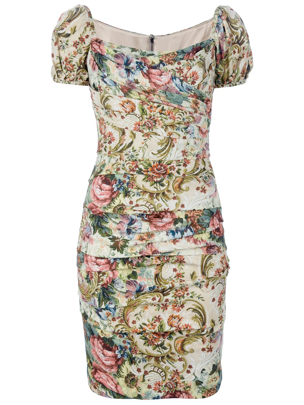 Dolce Amp Gabbana Floral Short Sleeve Dress Lyst
