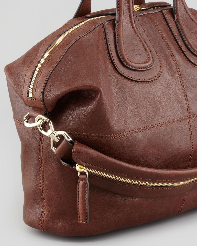 e73b11f13427 Lyst - Givenchy Nightingale Zanzi Medium Satchel Bag Light Brown in ...