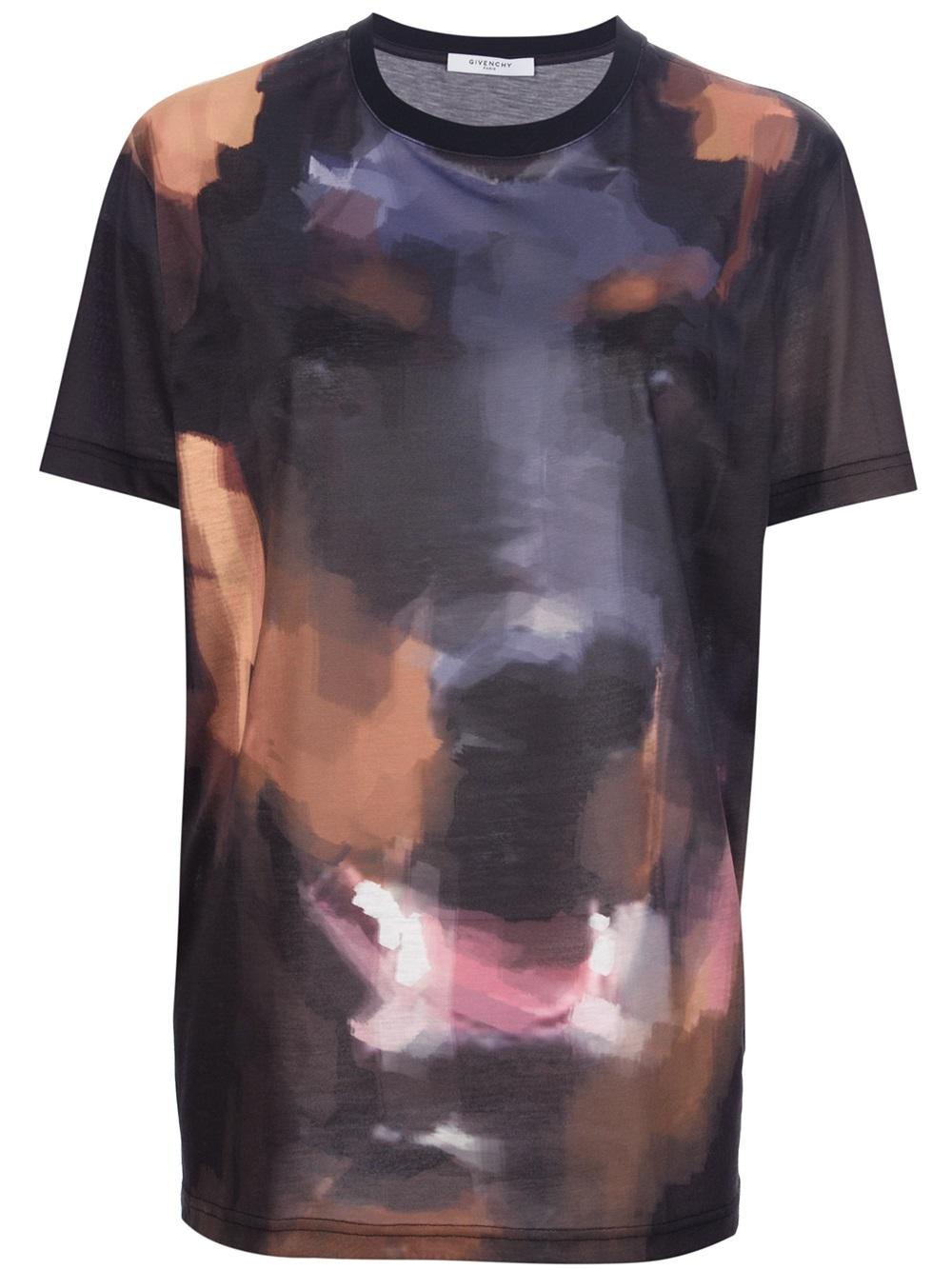 Lyst - Givenchy Dog Print Tshirt in Black d766d9bebe