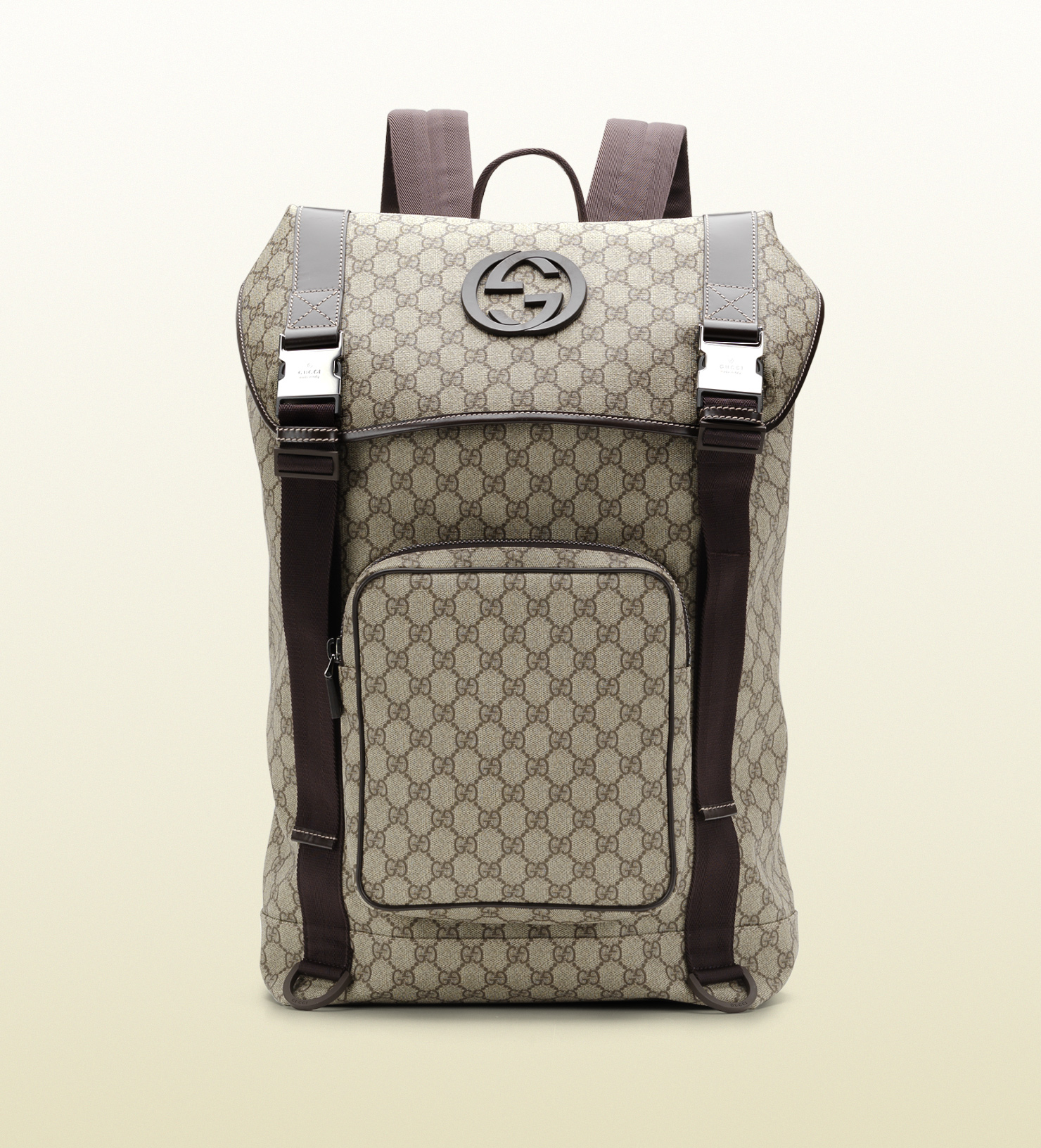 1b4bb1b9659173 Gucci Gg Supreme Canvas Interlocking G Backpack in Gray for Men - Lyst