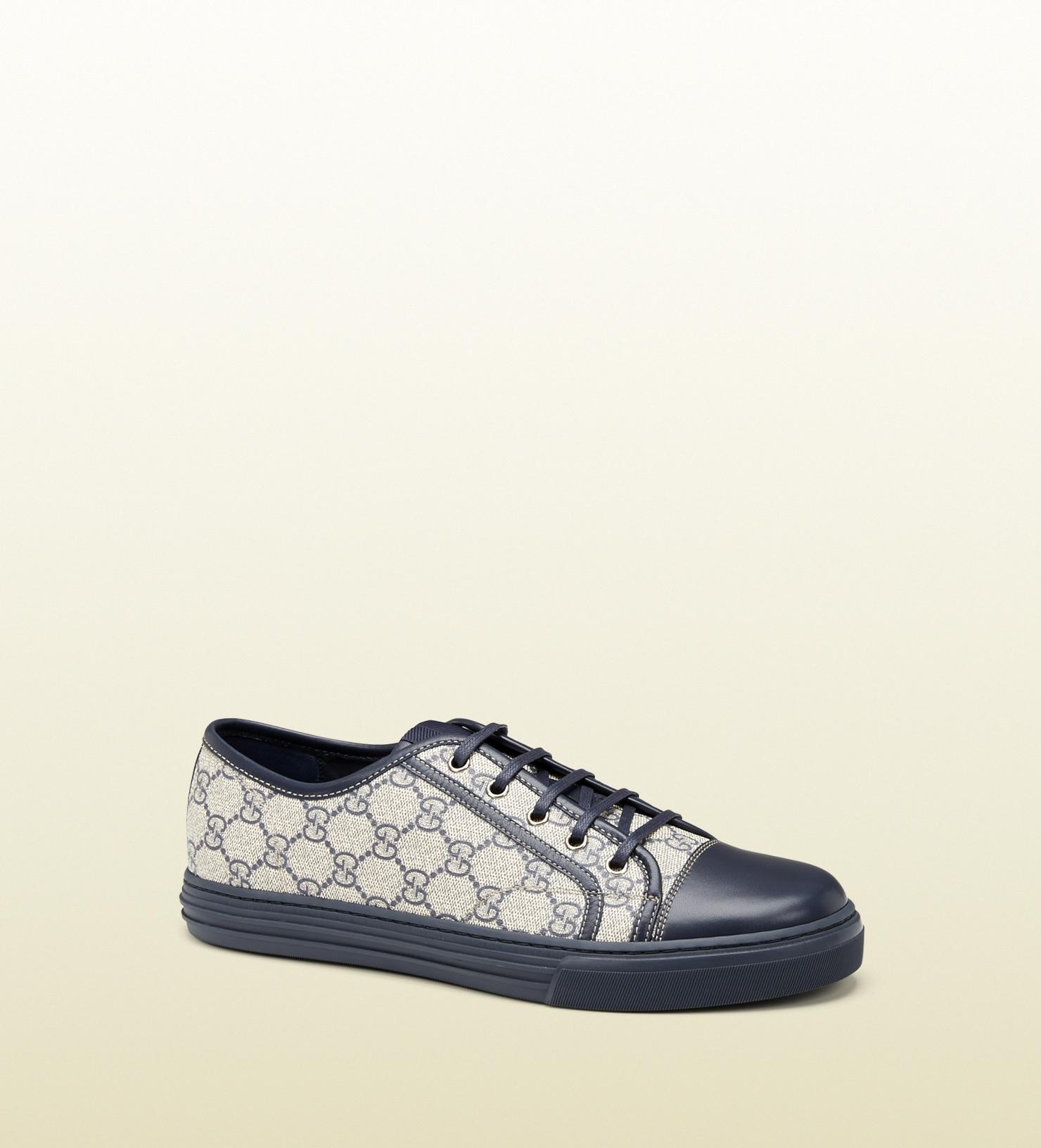 86e1c869002 Gucci Gg Supreme Canvas Lowtop Sneaker in Blue for Men - Lyst