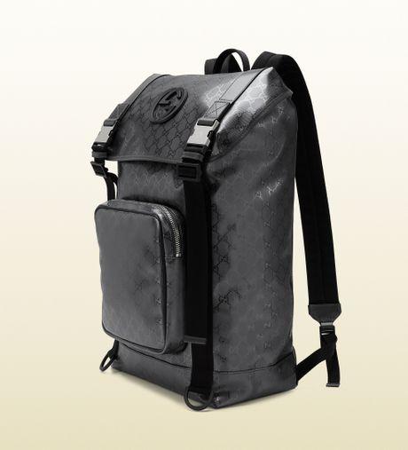 Gucci Gg Imprime Interlocking G Backpack in Black for Men ...