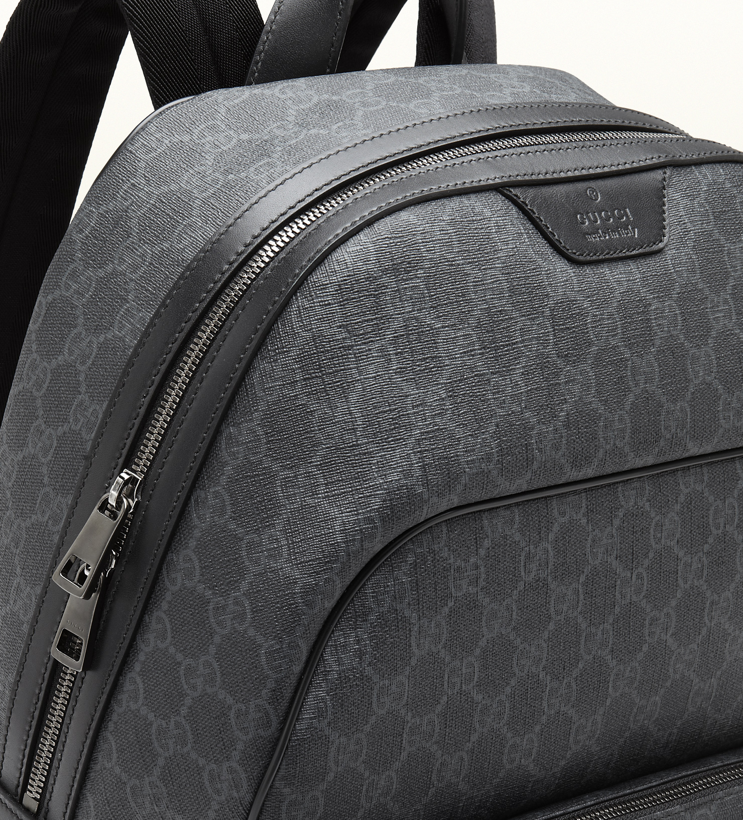 1cb86397d780 Lyst - Gucci Gg Supreme Canvas Backpack in Gray for Men