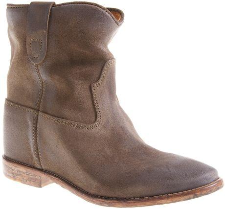isabel marant cluster concealed wedge boot in brown bronze lyst. Black Bedroom Furniture Sets. Home Design Ideas