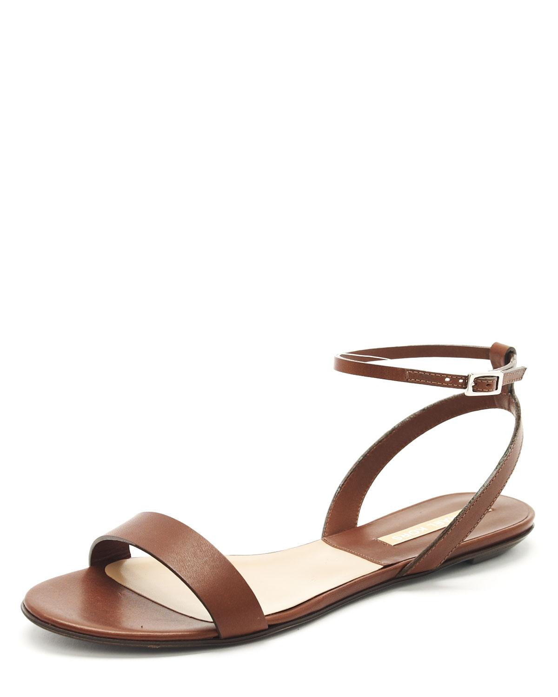 Lyst Michael Kors Flat Sandal In Brown