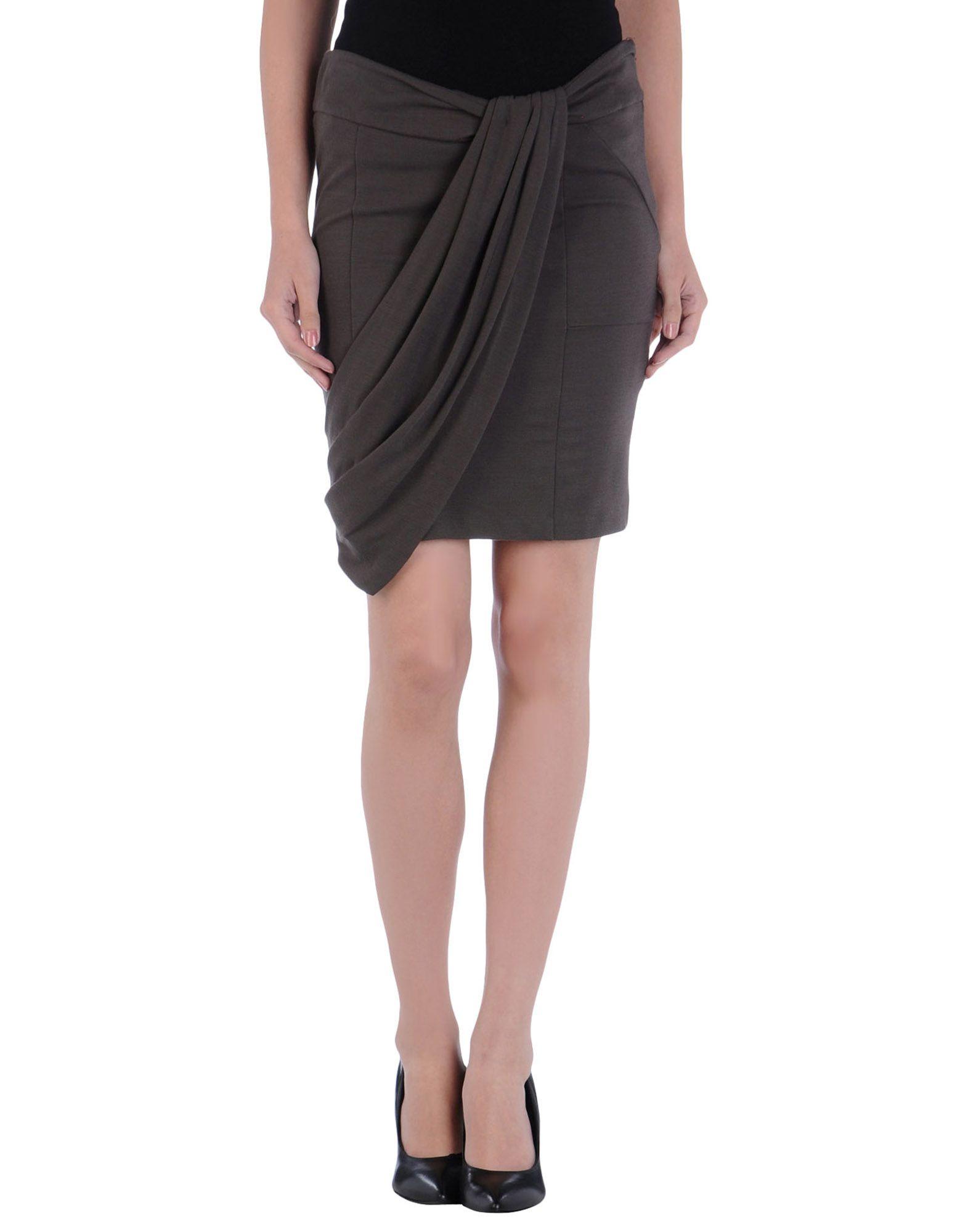 liu jo knee length skirt in brown brown save 77