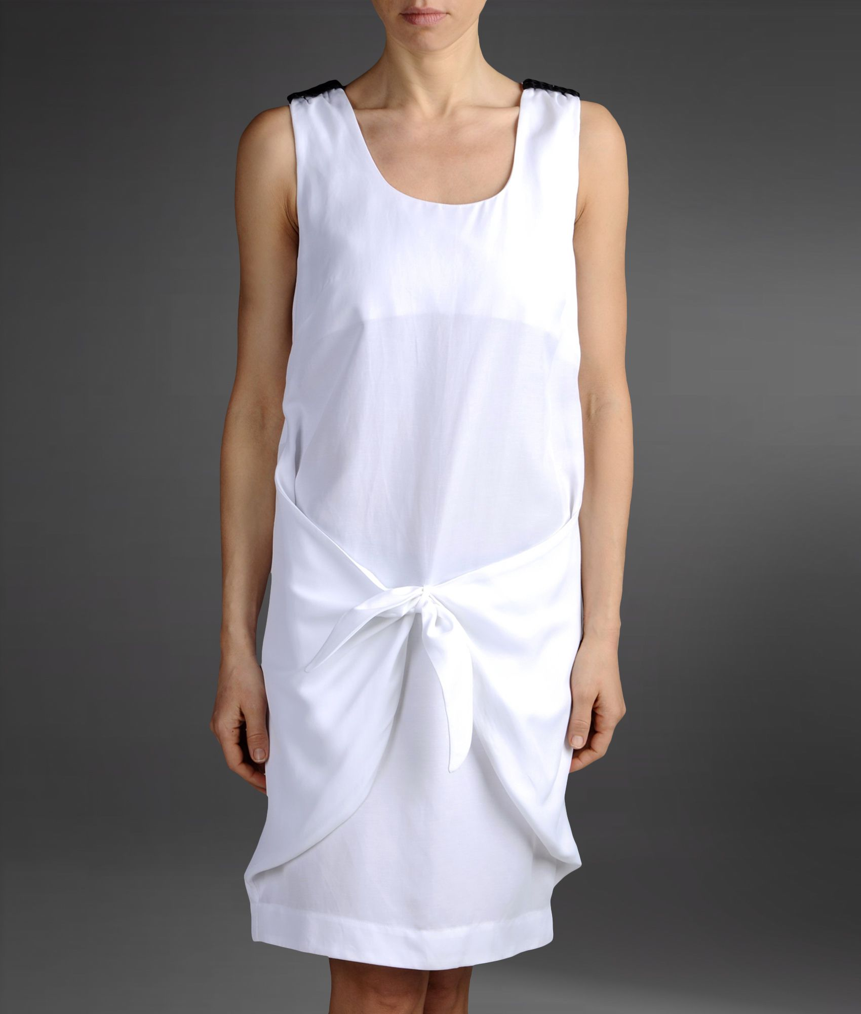 Lyst emporio armani loose fitting dress in linen and for White linen cocktail recipe