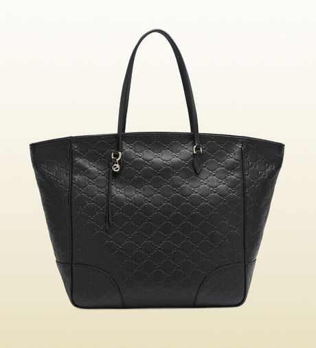 Gucci Bree Ssima Leather Tote in Black