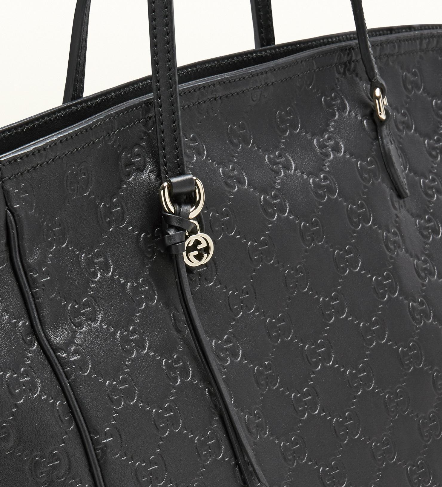 381305b46 Gucci Bree Ssima Leather Tote in Black - Lyst