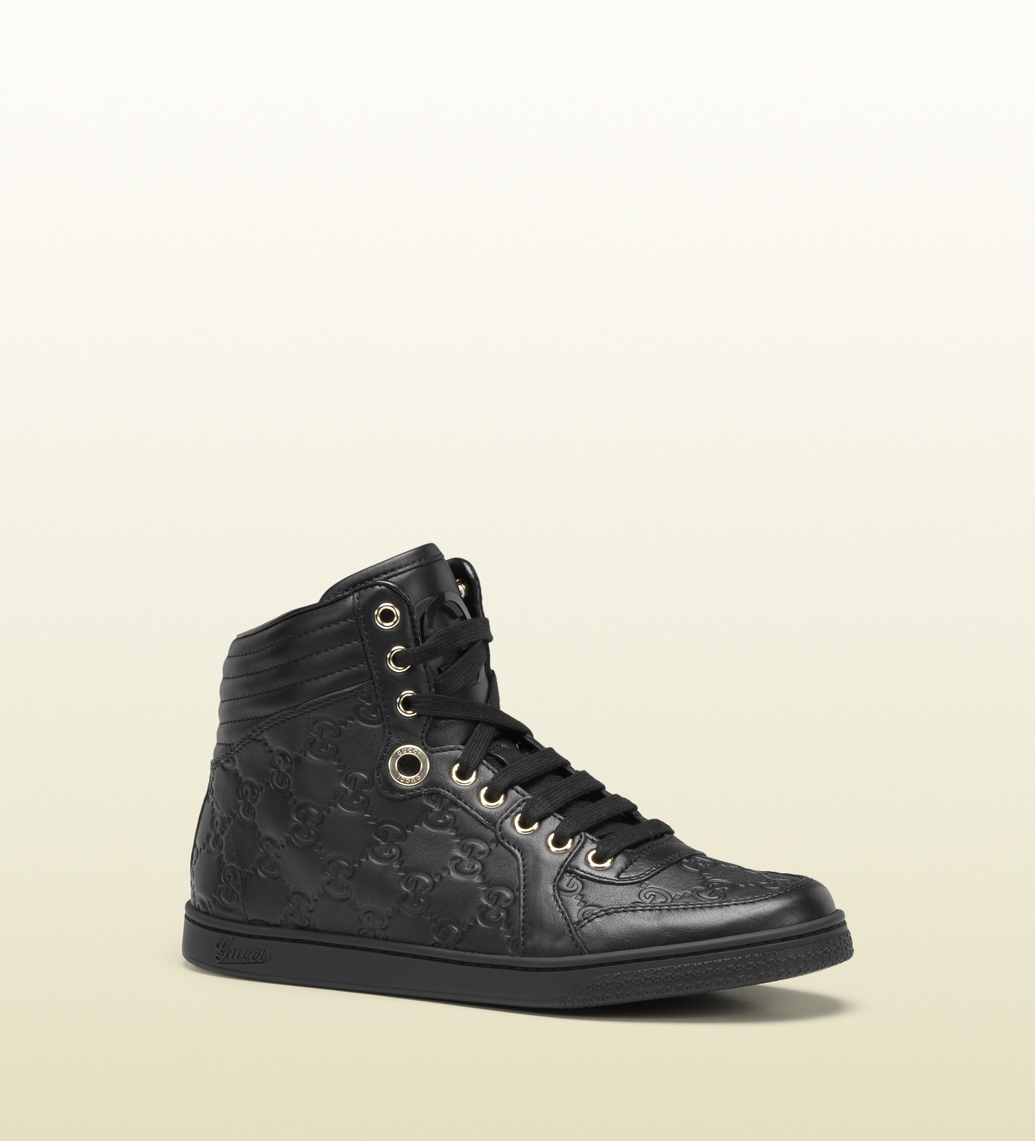 c2553f87719 Gucci Coda Black Guccissima Leather Hightop Sneaker in Black for Men ...