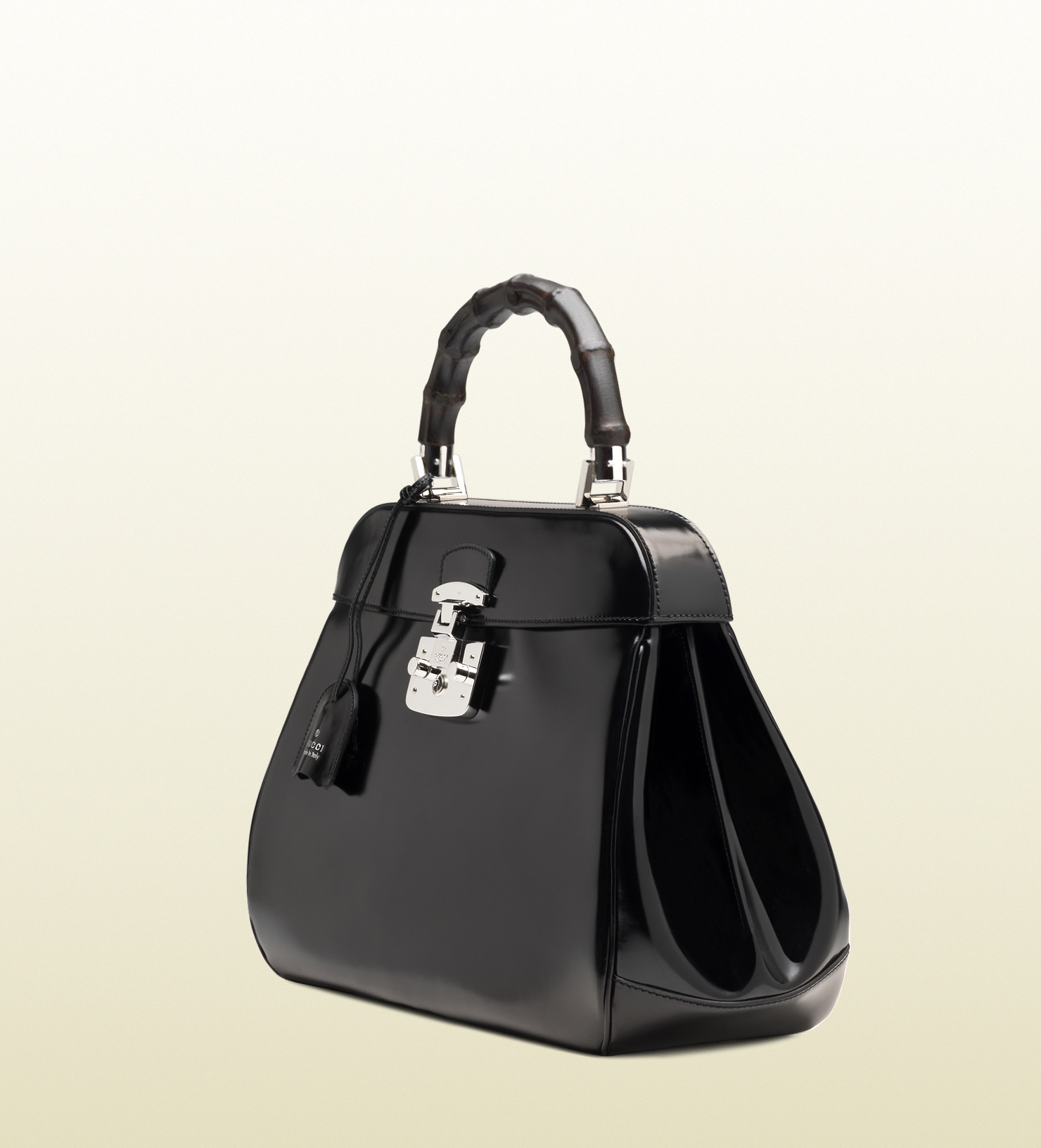 1440dfd14d1 Lyst - Gucci Lady Lock Leather Tote in Black