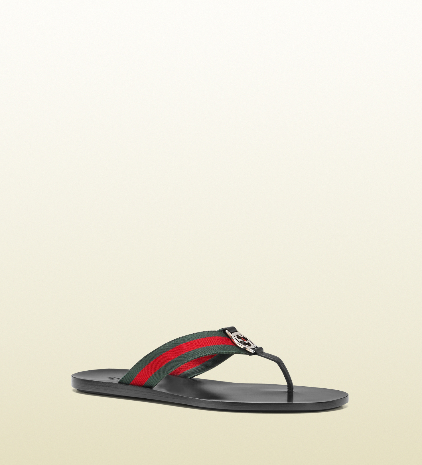 98d3ee92ebbedb Lyst - Gucci Signature Web Thong Sandal in Black for Men