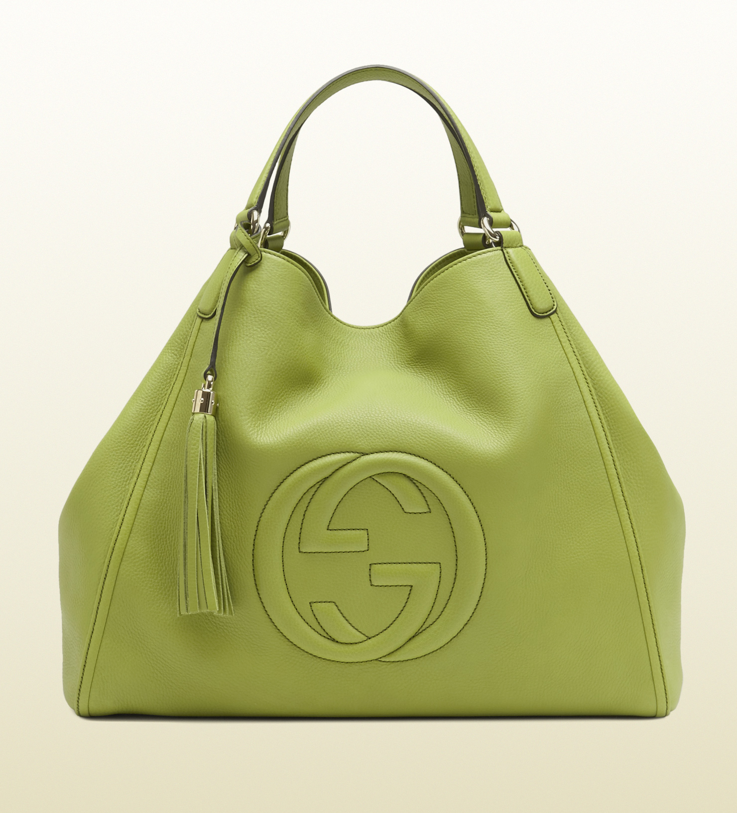 4165cd725aad Lyst - Gucci Soho Apple Green Leather Shoulder Bag in Green