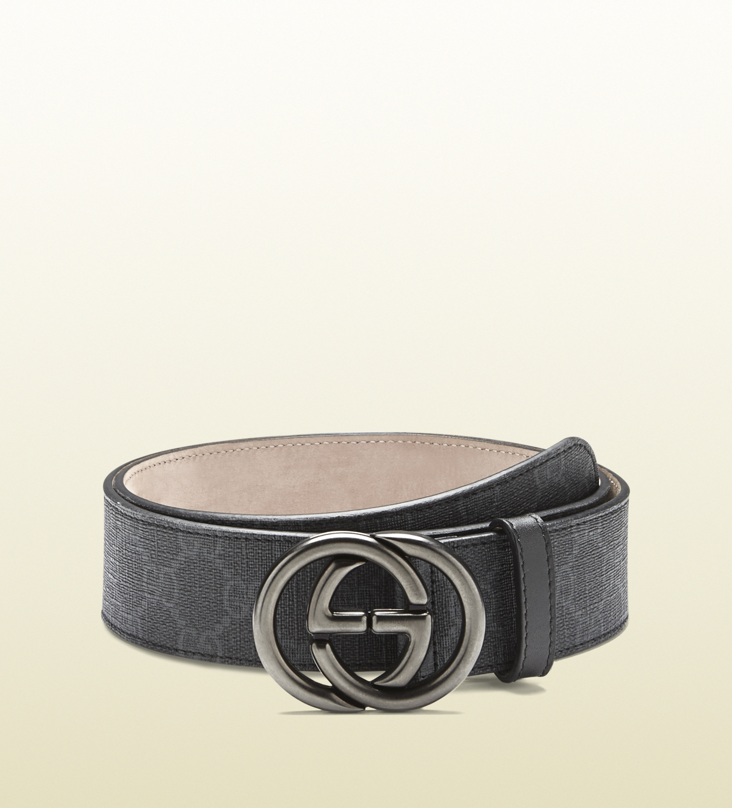6491e915d80 Gucci Gg Supreme Canvas Belt With Interlocking G Buckle in Black for ...