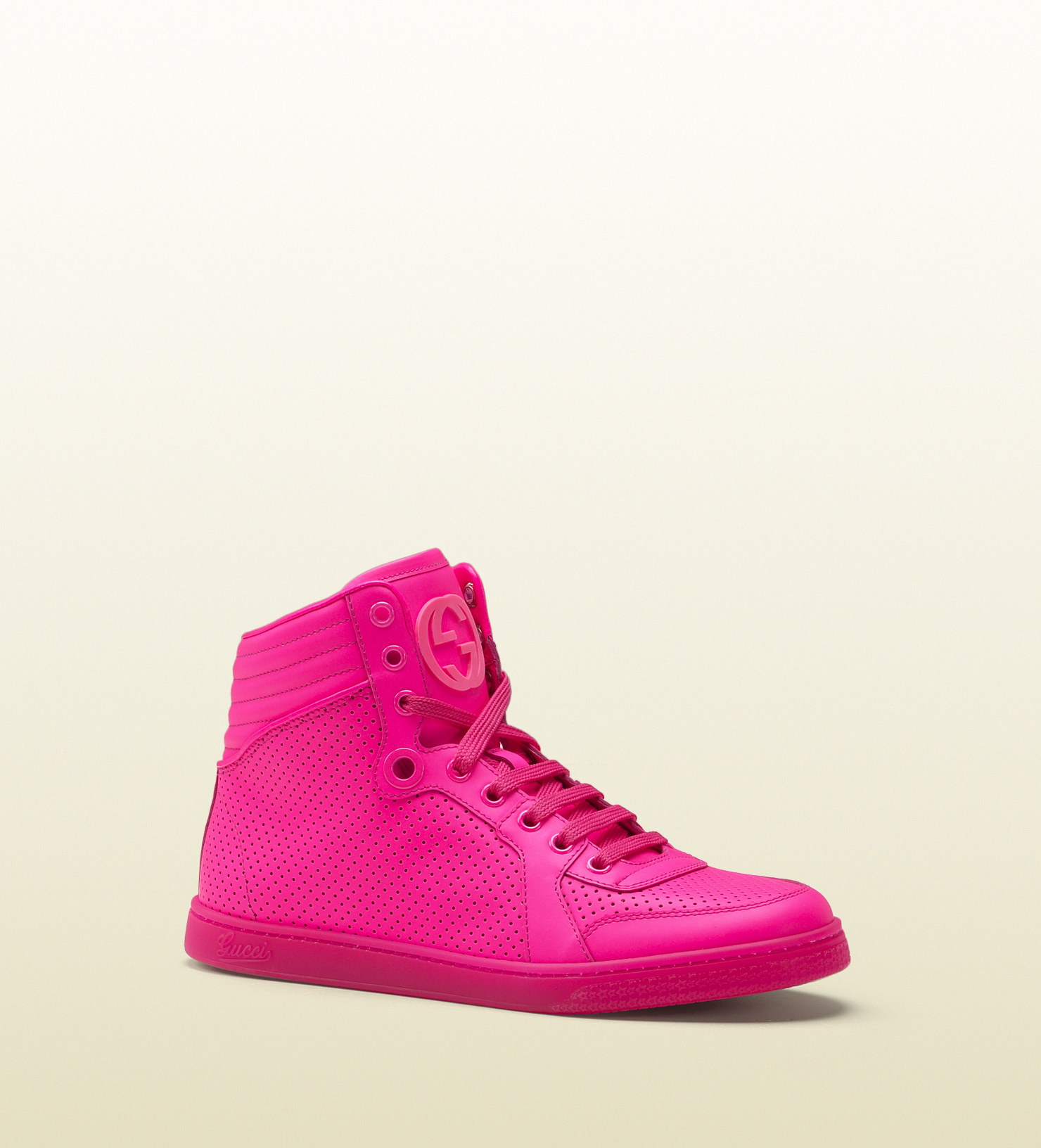 Lyst - Gucci Coda Neon Pink Leather Sneaker for Men