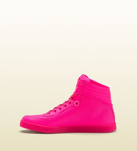 Gucci Coda Neon Pink Leather Sneaker in for Men (pink) | Lyst