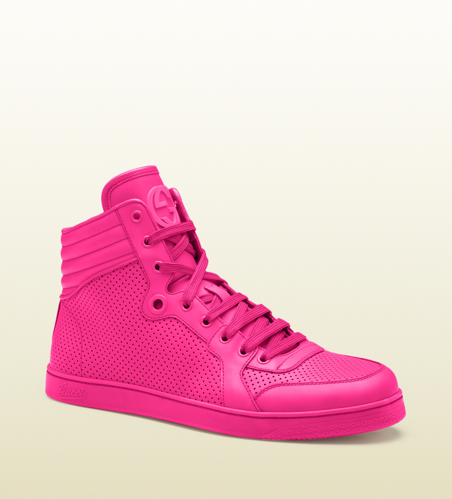 Pink Sneakers For 28 Images Gucci Hightop Neon Leather Sneakers In Pink Lyst Amazing Pink