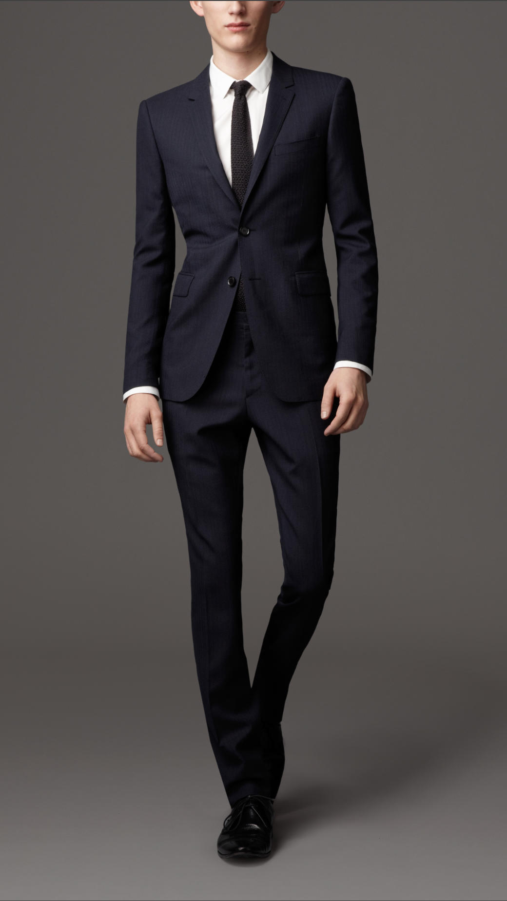 Burberry Slim Fit Wool Pinstripe Suit in Blue for Men | Lyst