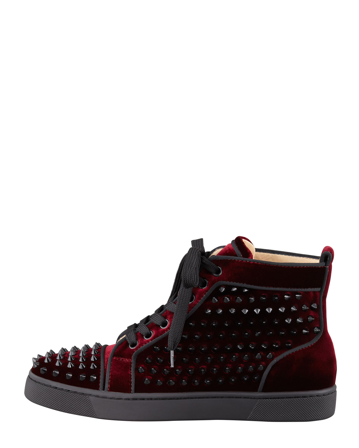 basket louboutin bordeaux