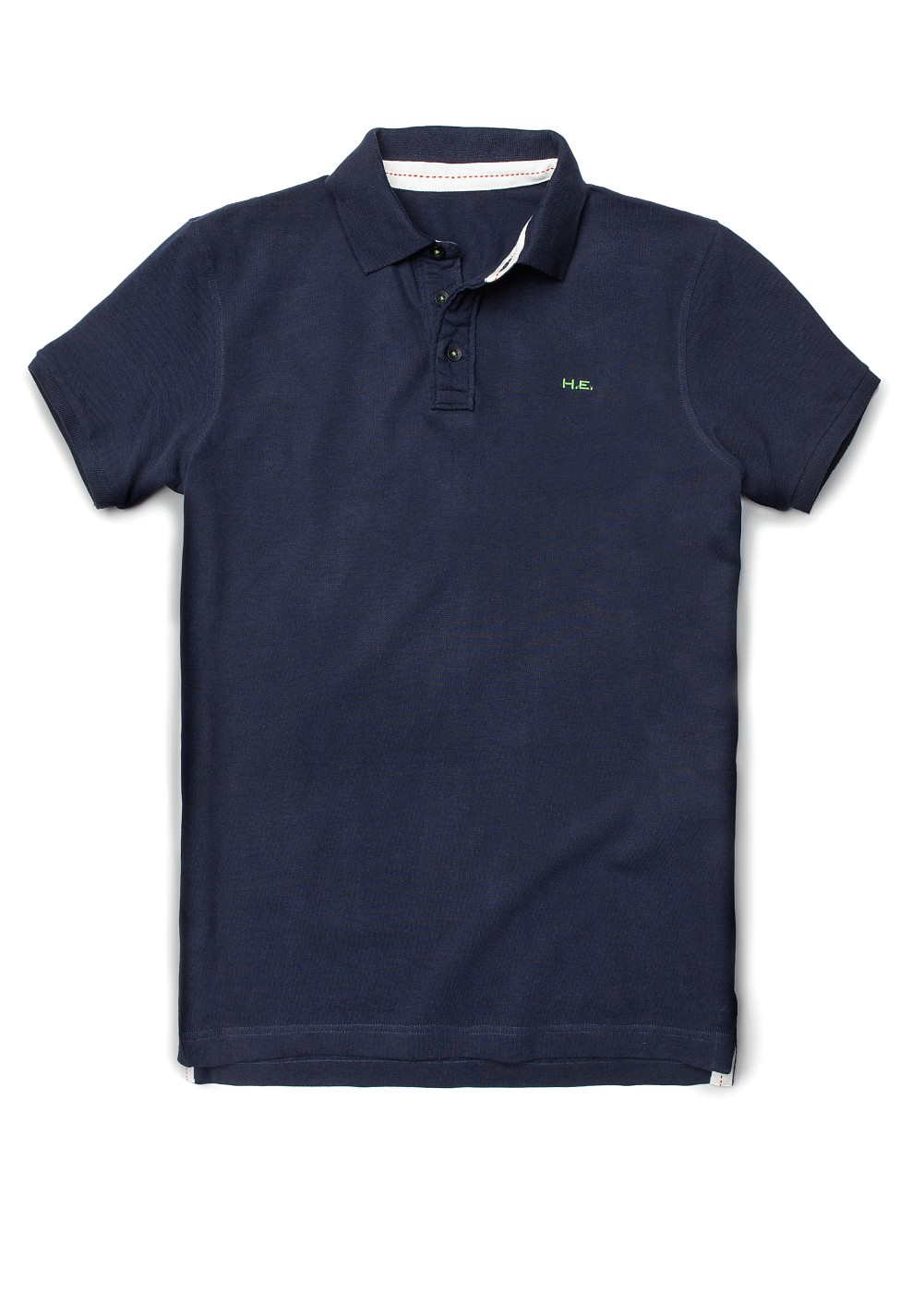 Mango Embroidered Logo Type Polo In Blue For Men Navy Lyst