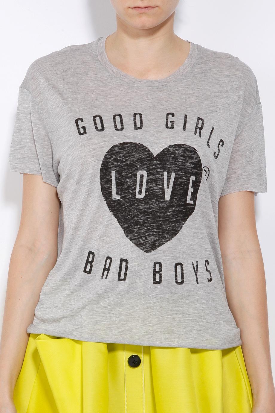 1cda2abf Zoe Karssen Good Girls Love Bad Boys Tee in Gray - Lyst