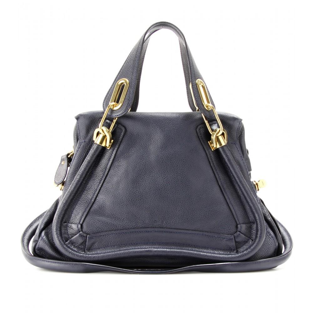 Chlo¨¦ Paraty Medium Leather Shoulder Bag in Blue (celtic night) | Lyst