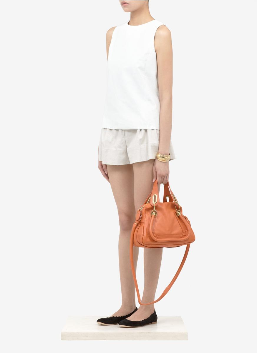 Chlo¨¦ \u0026#39;paraty\u0026#39; Small Leather Bag in Brown (orange) | Lyst