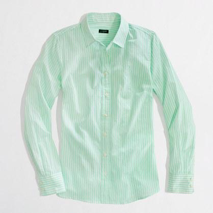 J.crew Factory Stripe Button down Shirt in Green | Lyst