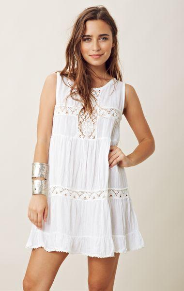 Jen s Pirate Booty Happy Babydoll Dress in White