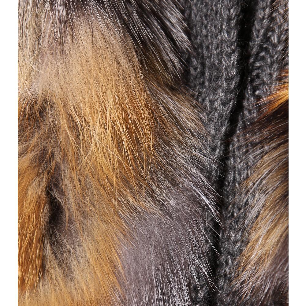 2d525f2da0f Lyst - Miu Miu Cardigan with Fur Vest in Gray