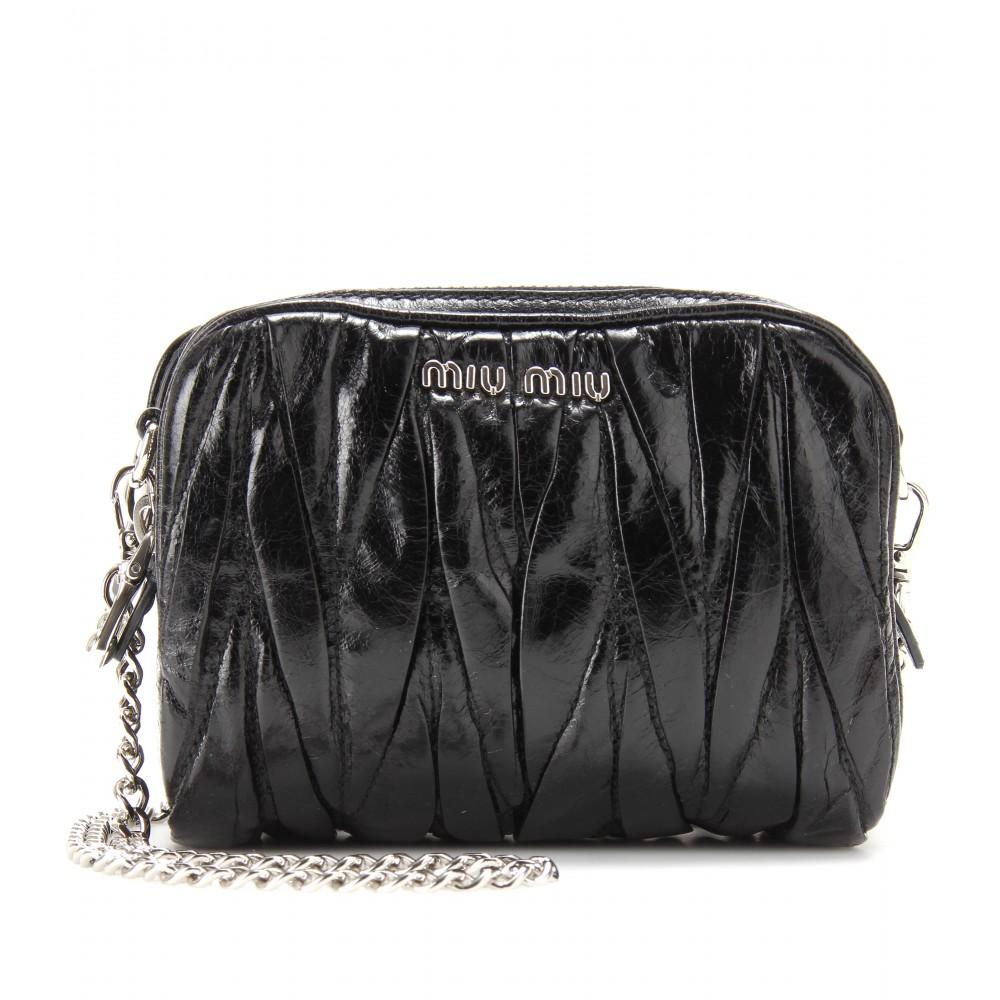 7d7e1eaafd3 Miumiu Matelasse Leather Mini Bag 5bh539
