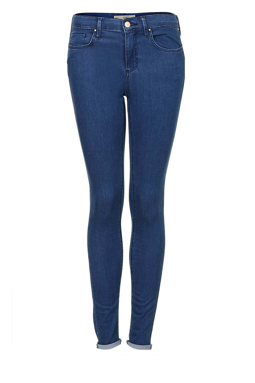 topshop petite moto blue leigh jeans in blue lyst. Black Bedroom Furniture Sets. Home Design Ideas