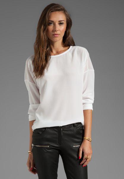 White Sheer Silk Blouse 27