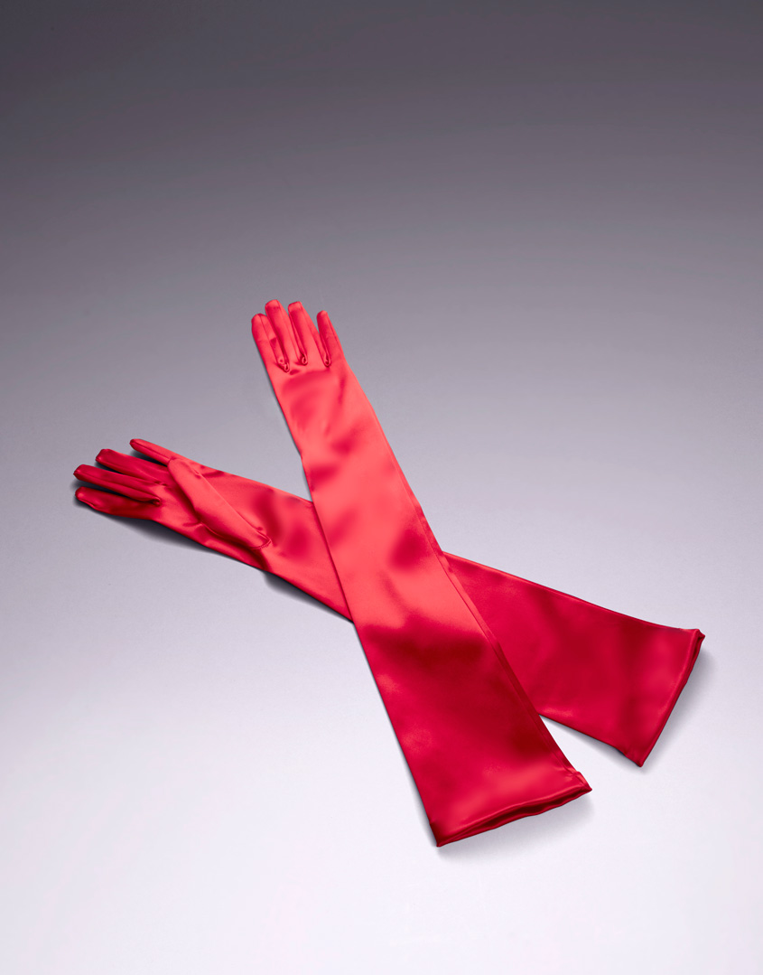 Agent Provocateur Long Satin Gloves in Red | Lyst