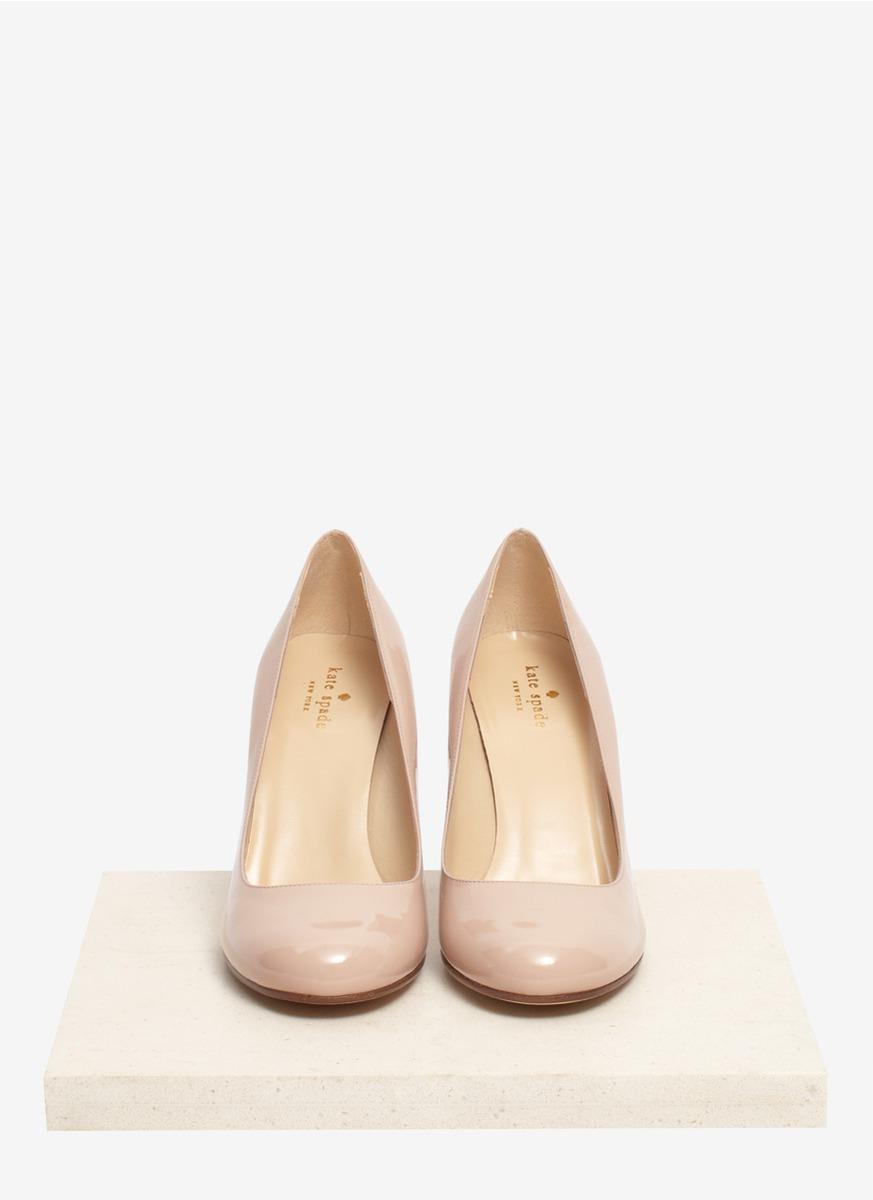 3c9b9a1a2e00 Kate Spade Karolina Snakeskin-heel Patent-leather Pumps in Natural ...