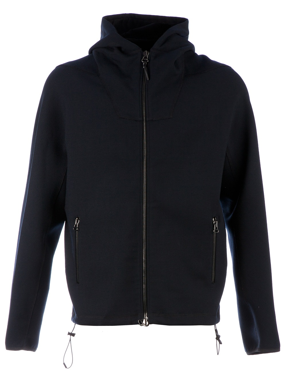 Lyst - Lanvin Drawstring Hoodie in Black for Men