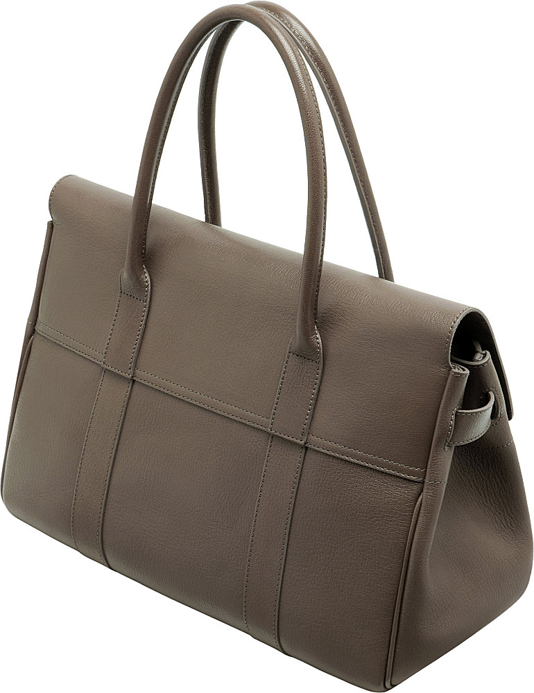 e5ab5f14a7d7 ... new style lyst mulberry bayswater glossy goat leather handbag in brown  46f3b 3ade8