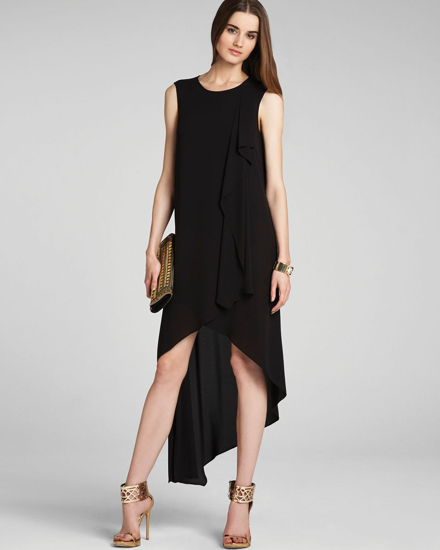 Lyst - BCBGMAXAZRIA Dress Hailey Draped in Black a26c15a9f