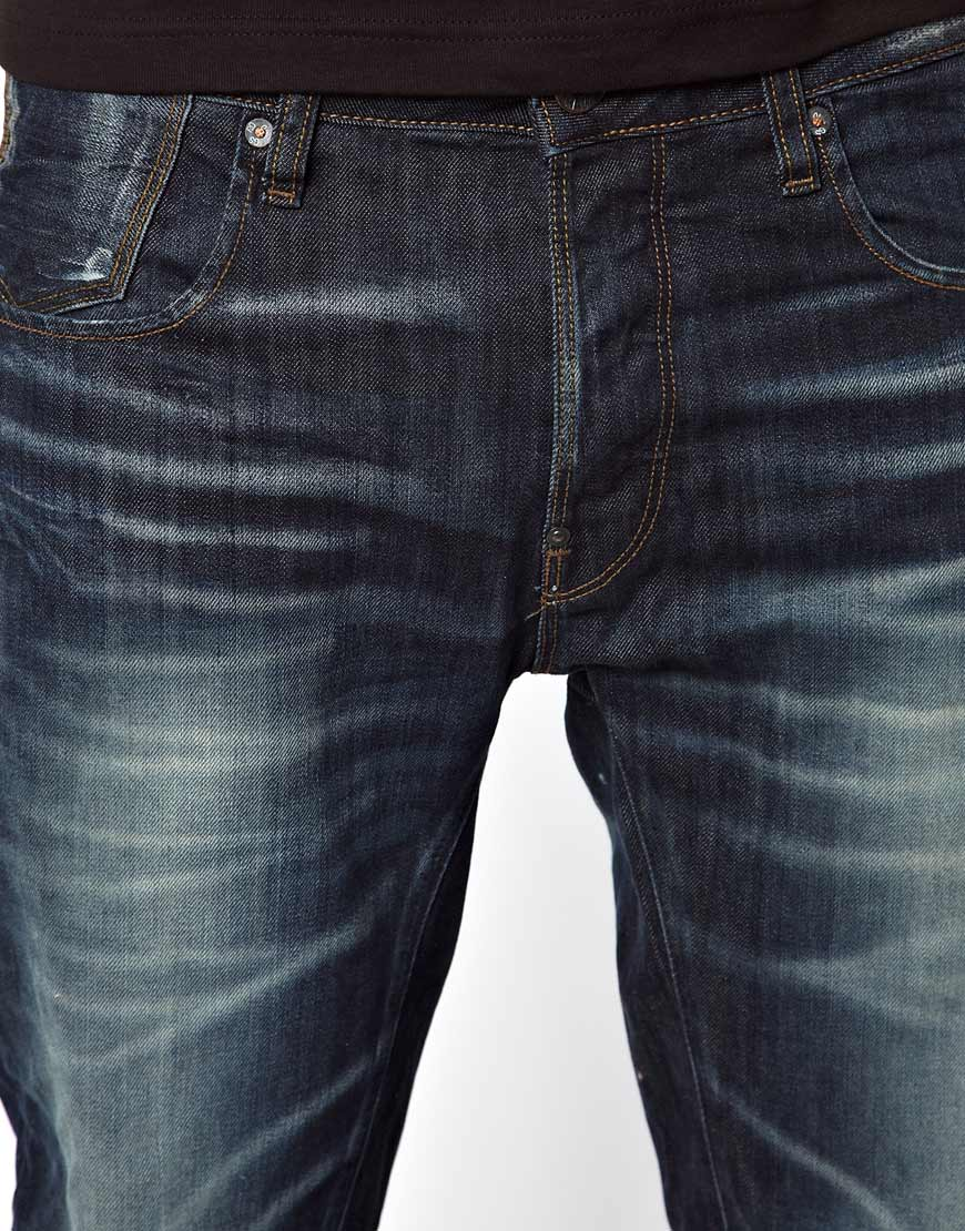 Raw Denim Jeans Men