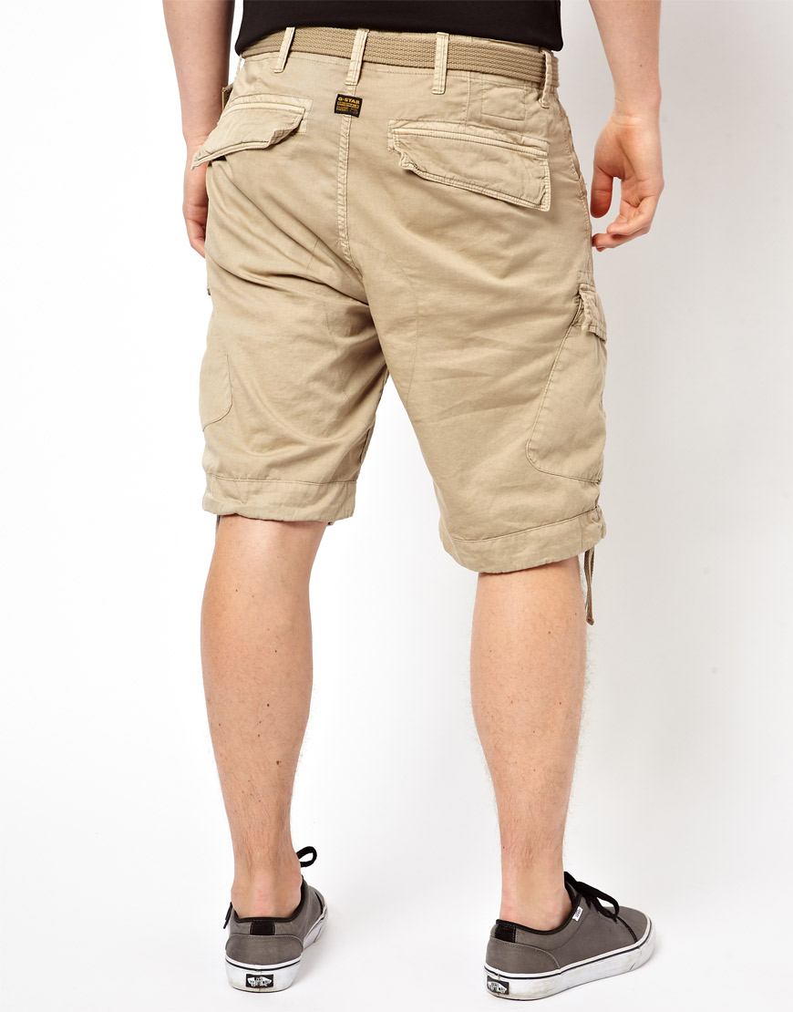 g star raw g star cargo shorts rovic loose with belt in. Black Bedroom Furniture Sets. Home Design Ideas